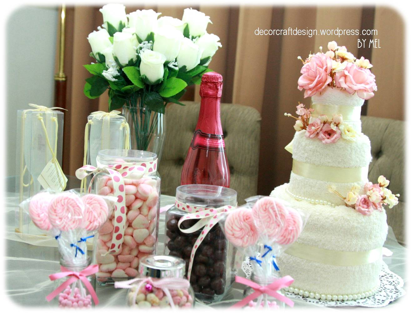 Bridal Shower Table In The Shade Of Pink Decor Craft Design
