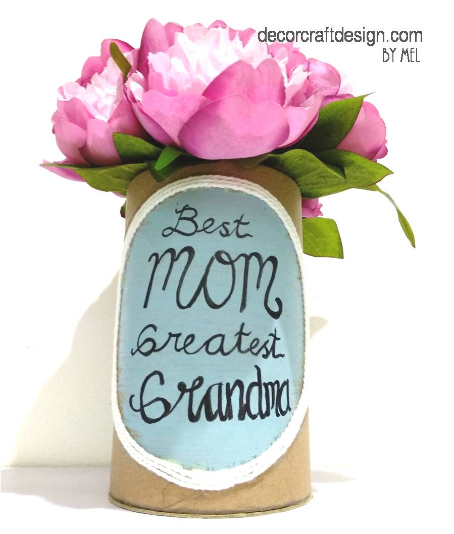 Super Quick Easy Diy Flower Vase For Mother S Day Gift Decor Craft Design