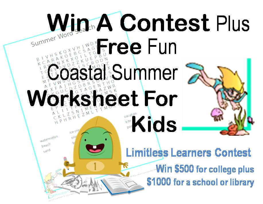 Win A Contest Plus Free Fun Coastal Summer Worksheet For ...