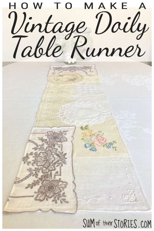 how to make a vintage doily table runner.jpeg